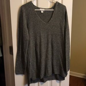Heather gray sweater